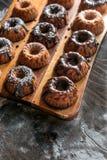 Chocolate mini kugelhopf Royalty Free Stock Photos
