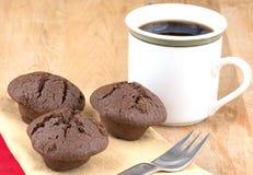 Chocolate mini muffins Royalty Free Stock Photo