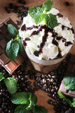 Chocolate mint. Serve in cold with coffee beans Royalty Free Stock Images