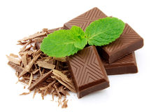 Chocolate with mint Royalty Free Stock Images