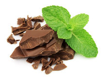 Chocolate and mint Stock Photography