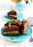 Chocolate and mint cake Stock Image