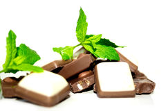 Chocolate and mint Stock Photo