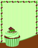 Chocolate Mint Cupcake Background Royalty Free Stock Images