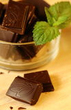 Chocolate and mint Royalty Free Stock Images