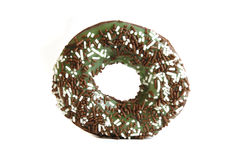 Chocolate mint donut Royalty Free Stock Photography