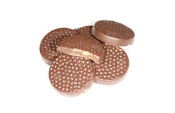 Chocolate mints isolated Stock Images