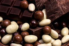 Chocolate mix close up Royalty Free Stock Images