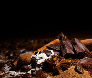 Chocolate mix with spices Stock Image