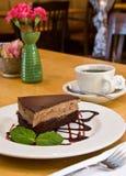 Chocolate mocha mousse cake Stock Image