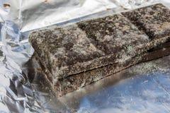 Chocolate mohoso en el empaquetado original Produc anticuado de la comida fotos de archivo libres de regalías