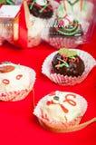 Chocolate moist cake balls Royalty Free Stock Photo
