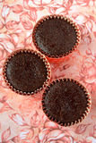 Chocolate moist cup cake Stock Photography