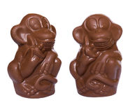 Chocolate monkeys figures Royalty Free Stock Photography
