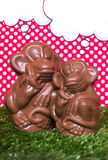 Chocolate monkeys figures Royalty Free Stock Photos