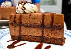 Chocolate moose cake Royalty Free Stock Photo