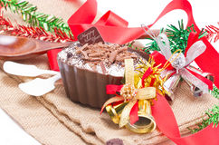 Chocolate moose dessert. Stock Photos