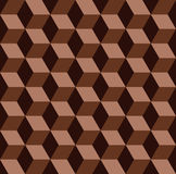 vector chocolate mosaic seamless pattern Stock Photo