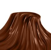 Chocolate mountain. Brown tecture of a hot liquid chocolate in a form of a mountain Royalty Free Stock Photography