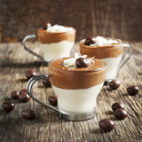 Chocolate mouse with dark and white chocolate Stock Photo