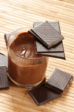 Chocolate and mousse Stock Photo