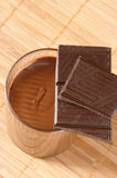 Chocolate and mousse Stock Images