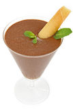 Chocolate mousse stock image