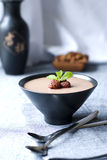 Chocolate mousse stock images