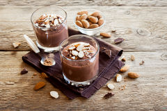 Chocolate Mousse with Almond royalty free stock images