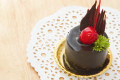 Chocolate mousse cake Stock Photography