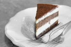 Chocolate mousse cake Royalty Free Stock Photo