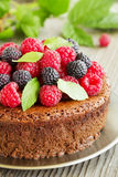 Chocolate mousse cake Royalty Free Stock Photography