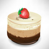 Chocolate mousse cake with strawberry Royalty Free Stock Photo