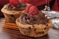 Chocolate mousse dessert cup Stock Image