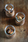 Chocolate mousse with cookie dust and burnt Marshmallow Stock Photography