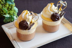 Chocolate Mousse Dessert Royalty Free Stock Images