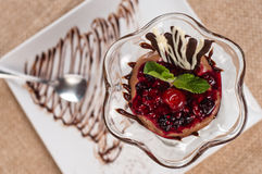 Chocolate mousse Royalty Free Stock Images