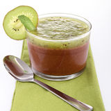Chocolate mousse and kiwi Stock Photo