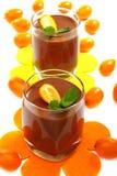Chocolate mousse with kumquat. Royalty Free Stock Image