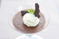 Chocolate Mousse in a wine glass Stock Photography