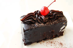 Chocolate mud cake Royalty Free Stock Photography
