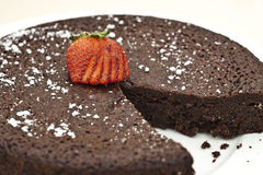 Chocolate Mud Cake Royalty Free Stock Photo