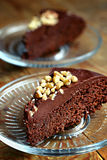 Chocolate mud cake Stock Photography