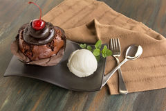 Chocolate Mudslide Muffin Stock Image