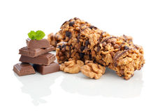 Chocolate Muesli Bars Royalty Free Stock Images