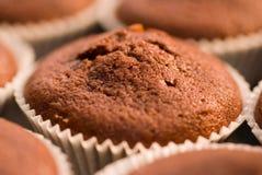 Chocolate Muffin. Chocolate muffin in macro mode in the studio Royalty Free Stock Image