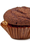 Chocolate Muffin 2. Double Chocolate Muffin  on a White Background Royalty Free Stock Image