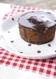 Chocolate muffin. Close up photo Stock Photography