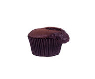 Chocolate Muffin. A fresh home baked chocolate muffin Royalty Free Stock Photography