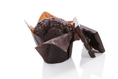 Chocolate Muffin. Royalty Free Stock Images